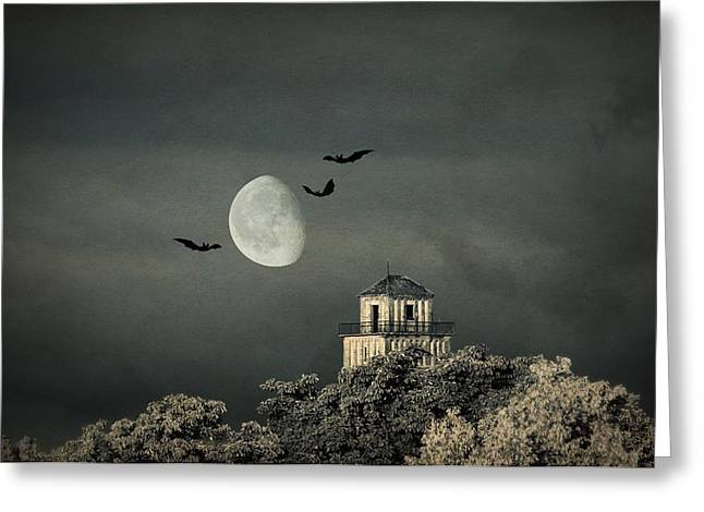 The haunted house Greeting Card by Heike Hultsch