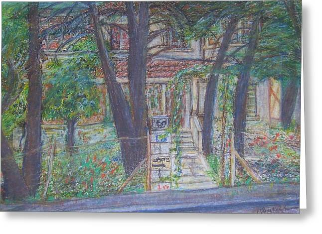 The Haunted House in Talpiot Jerusalem Greeting Card by Esther Newman-Cohen