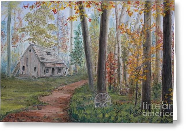 Wagon Pastels Greeting Cards - The Haunted Greeting Card by Marlene Kinser Bell