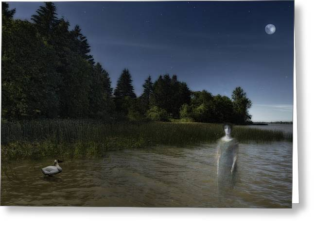 Ghostly Greeting Cards - The Haunting Greeting Card by Belinda Greb
