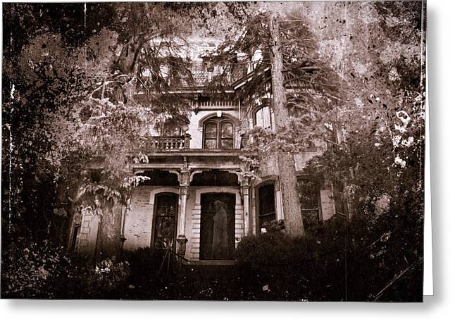 Abandoned House Mixed Media Greeting Cards - The Haunting Greeting Card by David Dehner