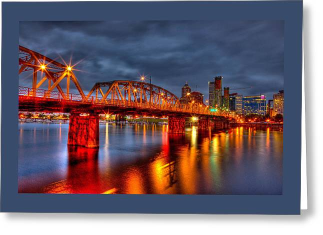 Bridges Greeting Cards - The Hawthorne Bridge - PDX Greeting Card by Thom Zehrfeld