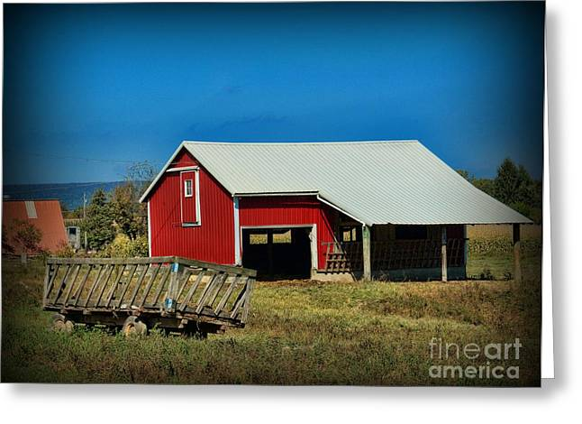 The Hay Wagon Greeting Card by Paul Ward