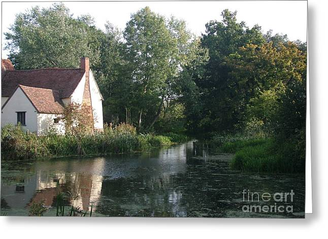 Constable Greeting Cards - The Hay Wain minus horse and cart Greeting Card by Mary Poulton