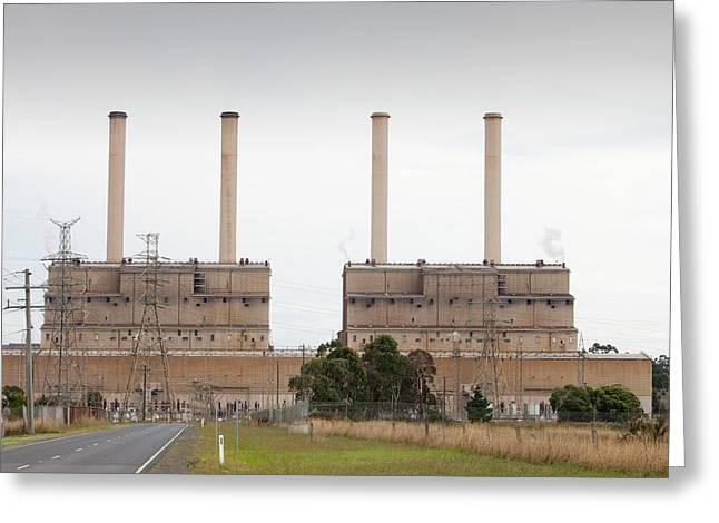 The Hazelwood Coal Fired Power Station Greeting Card by Ashley Cooper