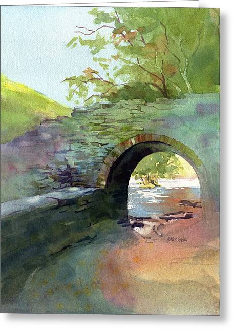 Harpers Ferry Paintings Greeting Cards - The Headgate Greeting Card by Kris Parins