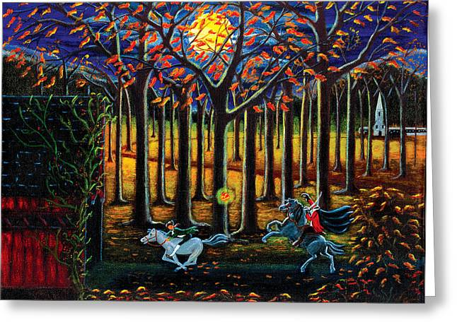 Ichabod Greeting Cards - The Headless Horseman of Hudson Valley Greeting Card by Christine Altmann