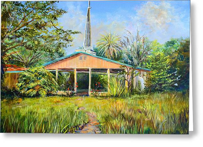 Religious Paintings Greeting Cards - The Healing Chapel Greeting Card by AnnaJo Vahle