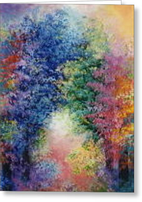 Forest Ceramics Greeting Cards - The healing garden Greeting Card by Jacqueline De Maillard