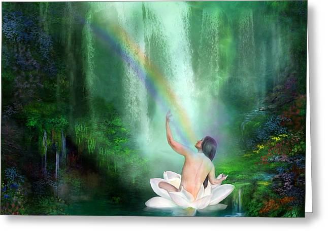 The Healing Place Greeting Card by Carol Cavalaris