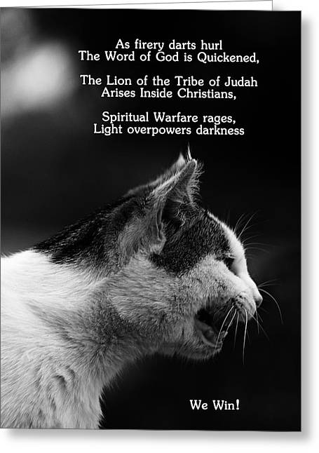Evil And Good Digital Art Greeting Cards - The Heart of a Lion Greeting Card by Lorna Rogers Photography