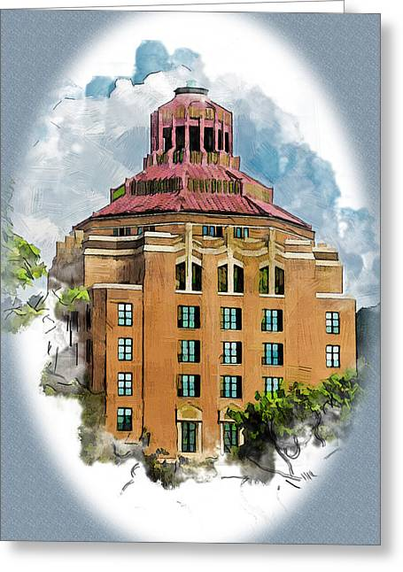 Nc Greeting Cards - The Heart of Asheville Greeting Card by John Haldane