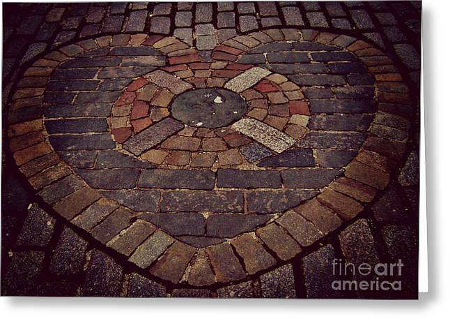 People Pyrography Greeting Cards - The Heart of Midlothian Greeting Card by Miryam  UrZa