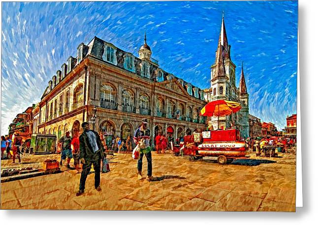 Lucky Dogs Greeting Cards - The Heart of New Orleans Greeting Card by Steve Harrington
