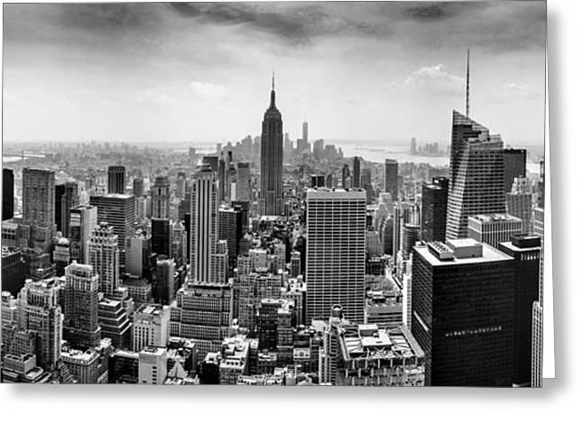 Manhattan Greeting Cards - The Heart Of New York Greeting Card by Az Jackson
