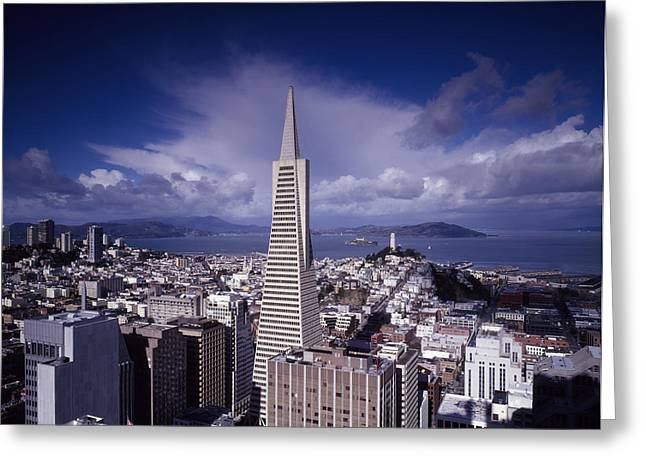 Downtown San Francisco Photographs Greeting Cards - The Heart of San Francisco Greeting Card by Mountain Dreams