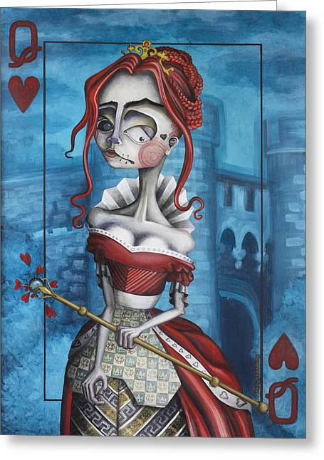 Royal Art Paintings Greeting Cards - The Heart Of The Matter Greeting Card by Kelly Jade King