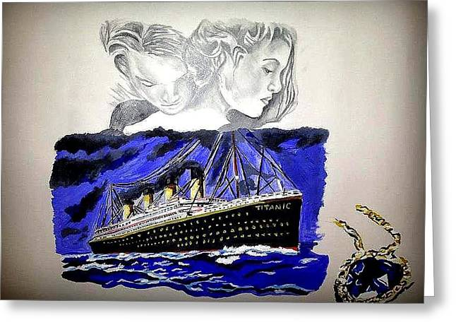 The Heart Of The Sea Greeting Card by Pauline Murphy