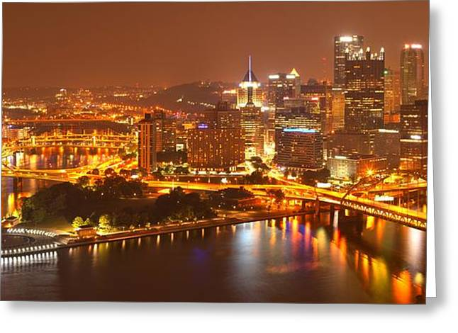 Incline Greeting Cards - The Heart Of The Three Rivers Greeting Card by Adam Jewell