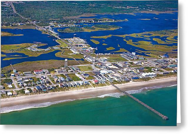 Topsail Island Greeting Cards - The Heart of Topsail Greeting Card by Betsy C  Knapp
