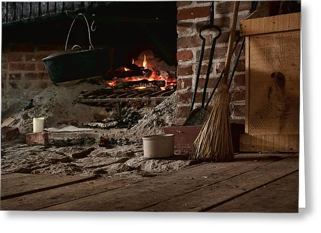 Old Crocks Greeting Cards - The Hearth - Fireplace Greeting Card by Nikolyn McDonald