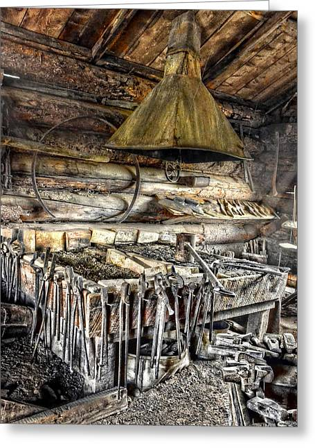Sledge Greeting Cards - The Hearth Greeting Card by Ken Smith