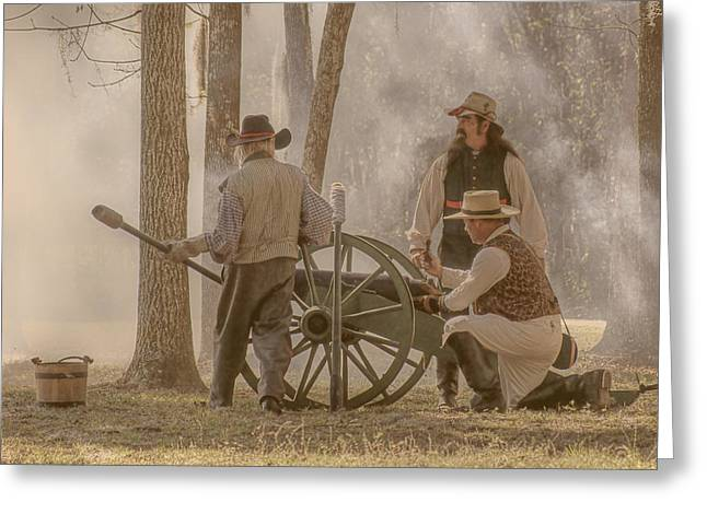 Re-enactment Greeting Cards - The Heat of Battle Greeting Card by Nikolyn McDonald