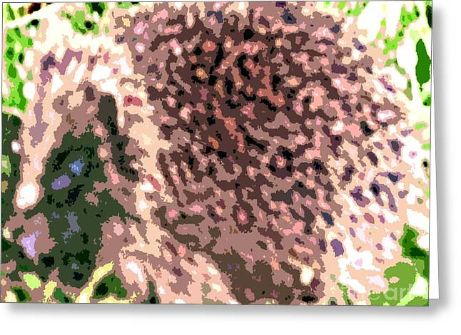Cute Mixed Media Greeting Cards - The Hedgehog Greeting Card by Patrick J Murphy