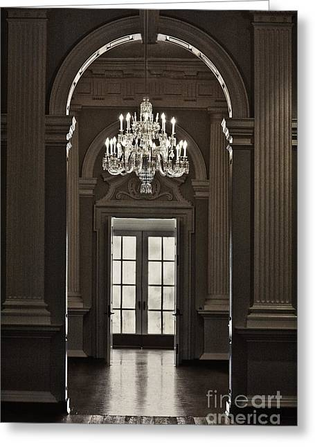 Sepia Chandeliers Greeting Cards - The Height of Elegance Greeting Card by Margie Hurwich