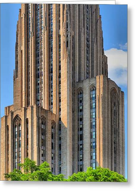 Cathedral Of Learning Greeting Cards - U. of Pitts Historic Landmark  Greeting Card by Adam Jewell