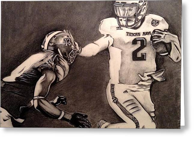 Heisman Greeting Cards - The Heismanziel Pose Greeting Card by Mark Hutton