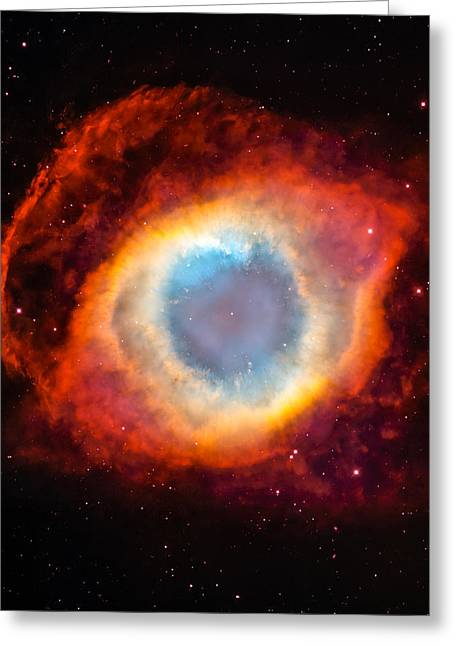 Light-years Greeting Cards - The Helix Nebula Greeting Card by Marco Oliveira