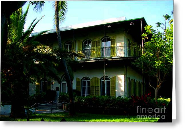 Old Man And The Sea Greeting Cards - The Hemingway House in Key West Greeting Card by Susanne Van Hulst