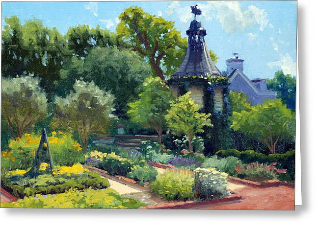 Cabrera Greeting Cards - The Herb Garden Greeting Card by Armand Cabrera