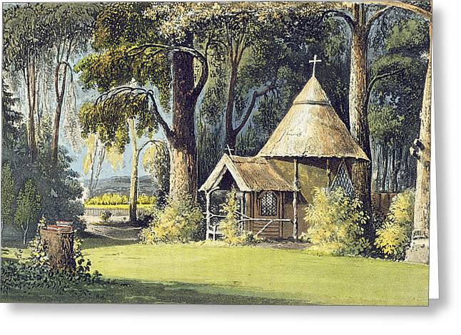 Hermit Greeting Cards - The Hermitage, From Ackermanns Greeting Card by John Gendall