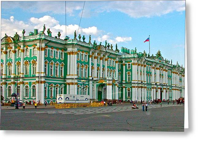 The Hermitage Greeting Cards - The Hermitage in Saint Petersburg-Russia Greeting Card by Ruth Hager