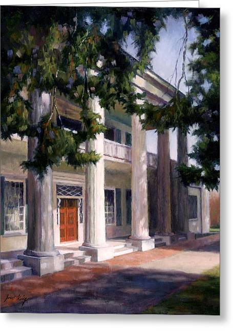 Sunlit Door Greeting Cards - The Hermitage Greeting Card by Janet King