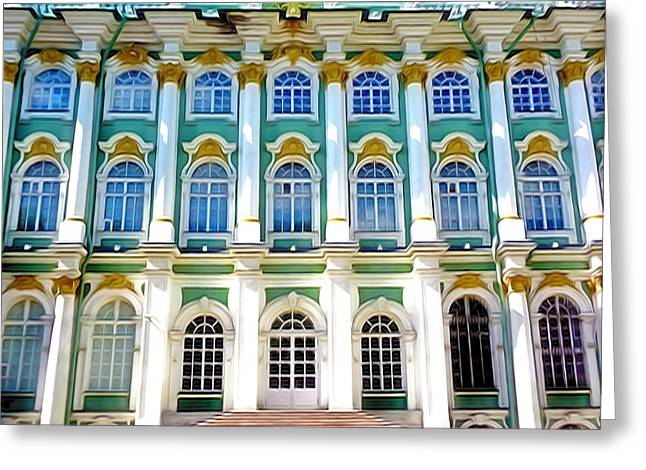 The Hermitage Greeting Cards - The Hermitage Museum Greeting Card by Lanjee Chee
