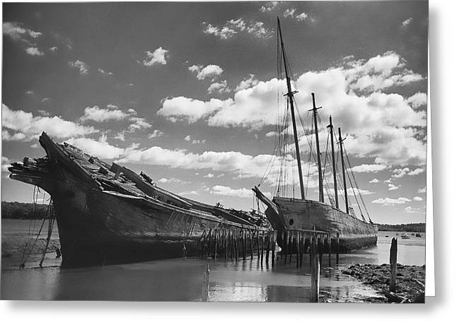 Recently Sold -  - Wooden Ship Greeting Cards - The Hesper and Luther Little Greeting Card by Barry Monaco