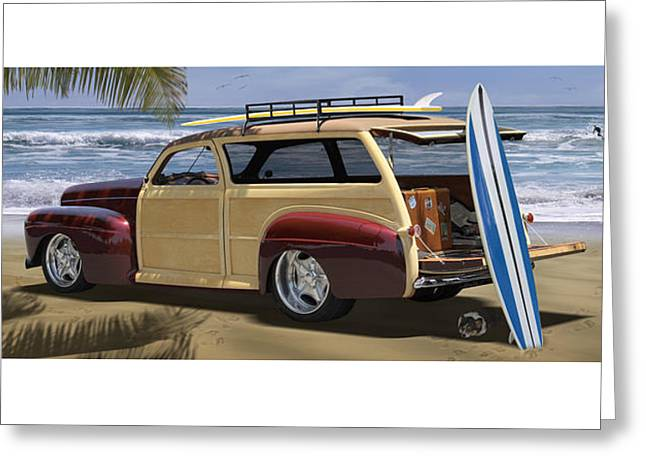 The Hideaway Panoramic Greeting Card by Mike McGlothlen