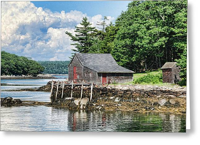 Maine Shore Greeting Cards - The Hideaway Greeting Card by Phyllis Taylor