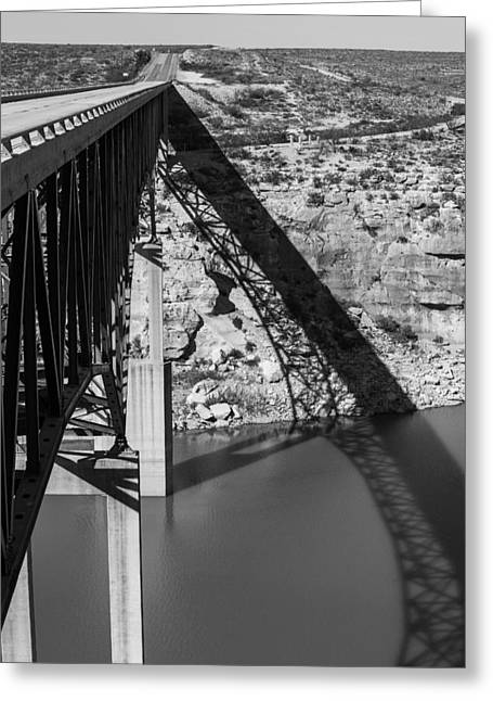 Del Rio Texas Greeting Cards - The High Bridge Greeting Card by Amber Kresge