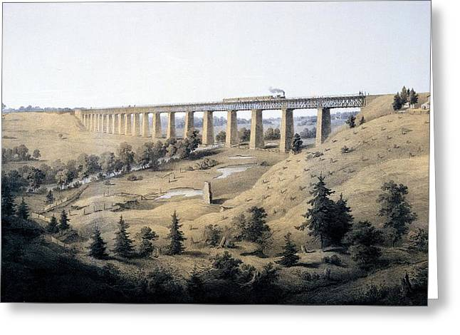 The High Bridge Near Farmville, Prince Greeting Card by Edward Beyer