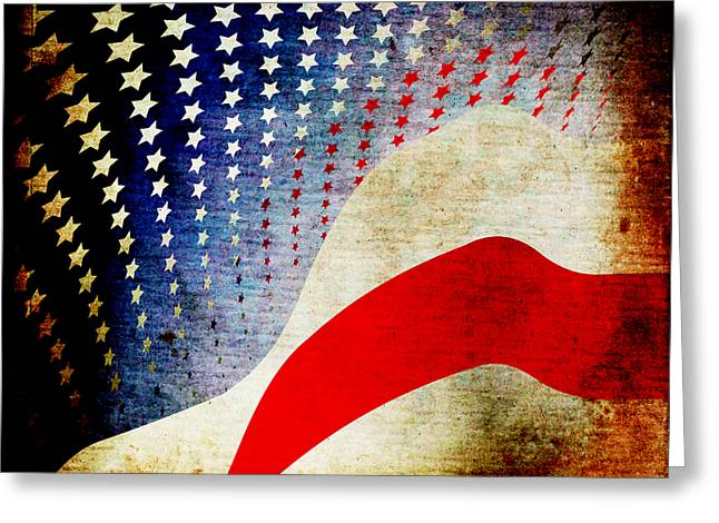 Flypaper Textures Greeting Cards - The High Flying Flag Greeting Card by Angelina Vick