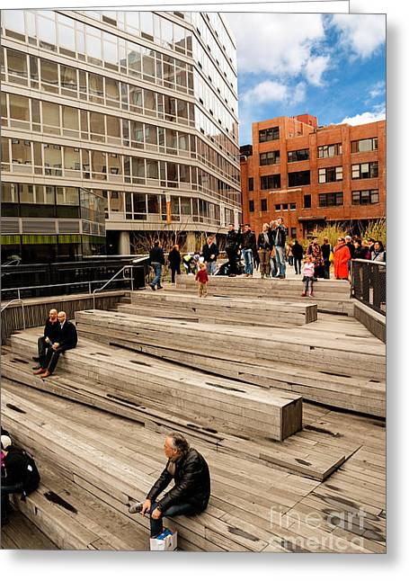 Exercise Greeting Cards - The High Line Urban Park New York Citiy Greeting Card by Amy Cicconi