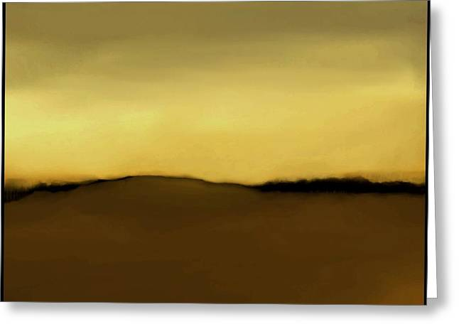 Fineartamerica Greeting Cards - The Hill   A 14 Greeting Card by Diane Strain