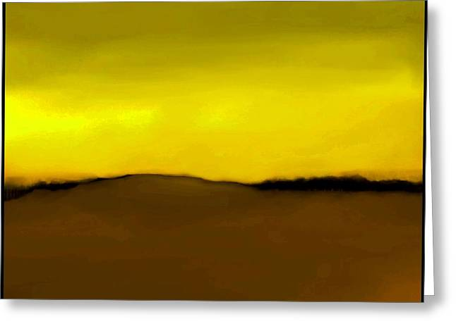 Fineartamerica Greeting Cards - The Hill   A 17 Greeting Card by Diane Strain