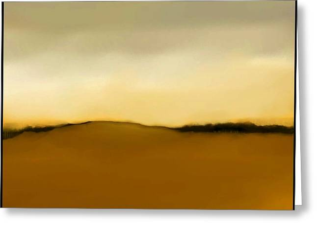 Fineartamerica Greeting Cards - The Hill   A 3 Greeting Card by Diane Strain