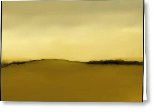 Fineartamerica Greeting Cards - The Hill   A 4 Greeting Card by Diane Strain