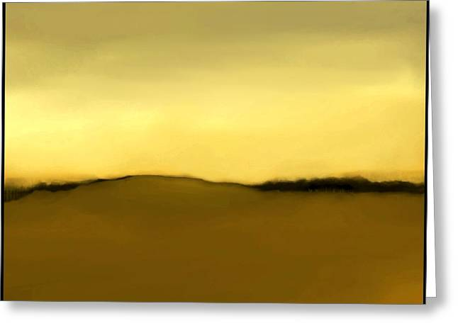 Fineartamerica Greeting Cards - The Hill   A 5 Greeting Card by Diane Strain